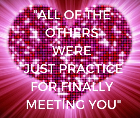 ALL OF THE OTHERS WERE JUST PRACTICEFOR FINALLY MEETING YOU