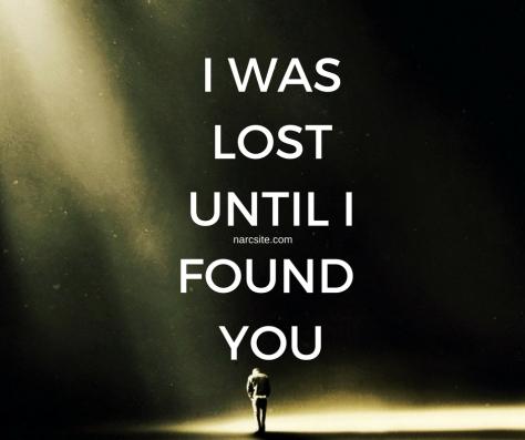 I WASLOSTUNTIL IFOUND YOU